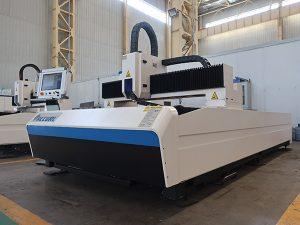 Mesin pemotong laser lembaran logam 1000w 1500 x 3000mm dengan serat laser ipg