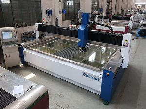 2000 * 1500mm 380 mpa kaca tempered dan dilaminasi abrasif tekanan tinggi CNC air jet cutting mesin