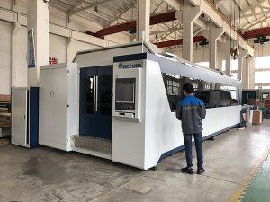 500W 700W 1kw, 2kw, 3kw, lembaran logam CNC serat Optik harga mesin laser cutting dengan Trumpf, IPG