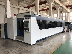 pemotongan logam tanda cnc serat laser mesin pemotong