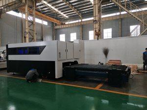 CNC 500W Fiber Cutter Engraver Multifungsi Sheet dan Pipa Logam Fiber Laser Cutting Machine