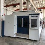 kekuatan besar 1000w ~ 4000w serat mesin pemotong laser untuk memotong lembaran logam halus