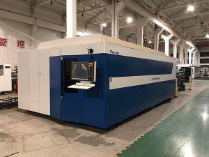 Pemotong laser serat mesin 500W memotong logam stainless steel