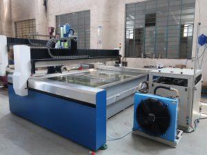 Mesin Pemotong Jet Air CNC Kecil, Jet Air Tekanan Tinggi: Marmer, Granit, Kaca, Keramik, Logam
