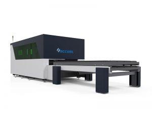 1500w ipg fiber laser cutting equipment dengan meja shuttle pertukaran ganda