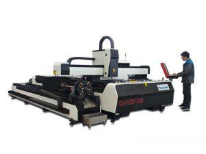 serat 1000w pemotong laser logam dengan meja kerja pertukaran